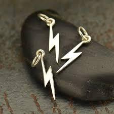 a1732 sv chrm sterling silver tiny lightning bolt charm