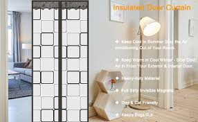 insulated door curtain thermal
