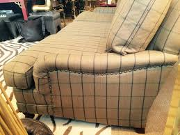 ralph lauren sofa. A Large Comfy Sofa By Ralph Lauren Upholstered In Classic Camel, Black And Brown Plaid 3