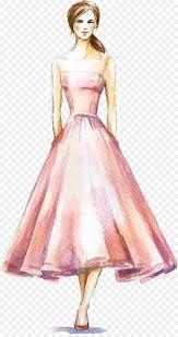 Model Dress Design Drawing Design Background