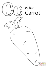 Small Picture Letter C is for Carrot coloring page Free Printable Coloring Pages