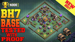 Base 7 Best Builder Hall 7 Base Most Popular In Youtube Bh7 Base 4000 Trophy W Pro0f Clash Of Clans