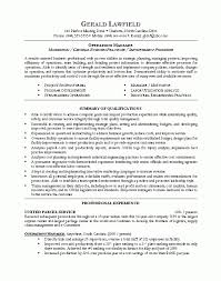 operations manager resume | apa example