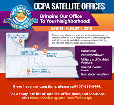 office orange. This Summer, We\u0027re Bring Our Office To Your Neighborhood With Satellite Offices. Knowledgeable Staff Will Answer Questions About Property Tax Exemptions Orange