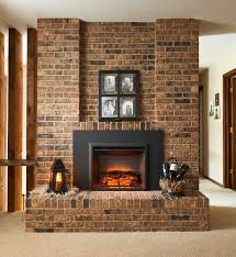 gallery insert with 42 surround in masonry fireplace