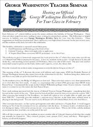 george washington s birthday celebration we the people of the  the file above giving some ideas for a possible george washington birthday party ideas can also be found below as a pdf file