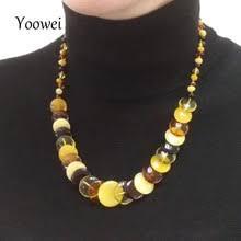 Yoowei <b>50</b> см 18 г натуральное Янтарное ожерелье для женщин ...