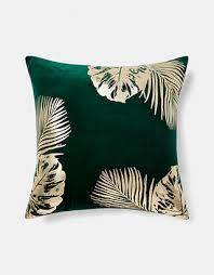 teal and gold pillows. Contemporary Pillows Leaf Cushion On Teal And Gold Pillows