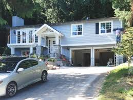 Split Level House Being Transformed Into A Craftsman Style Love - Split level exterior remodel