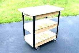 kitchen prep station outdoor grill table