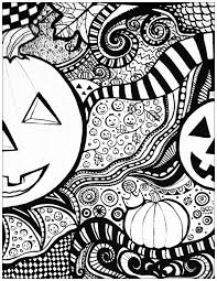 Halloween Drawing To Print Color With A Big Pumpkin From The