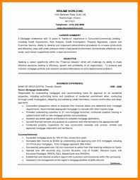 Mortgage Underwriter Resume Sample Cover Letter New Hope Stream Wood