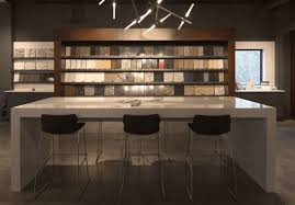 sample library on display in design showroom