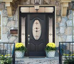 exterior decorative glass doors