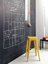 add a coat of magnetic chalkboard paint to your office wall and you have an instant chalkboard paint office