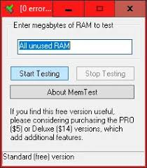 tester une barrette mémoire sous
