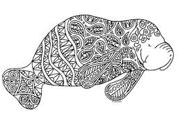 manatee coloring page 2. Perfect Page Manatee Zentangle Coloring Page Intended 2 O