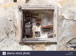 very old fusebox in an abandoned house stock photo 159190581 alamy old fuse box in house at Old Fuse Box In House