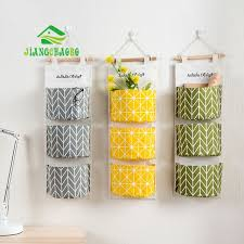 wall hanging storage. Beautiful Storage 3 Color Cotton Fabric Wall Hanging Storage Bag For Organizer Sundry  Pocket Decoration Kitchen And G