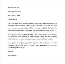 sample thank you letter after interview via email sample follow up interview letter 9 download free documents in