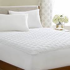 quilted mattress pad. Delighful Quilted LinenSpa Waterproof Quilted Mattress Pad With Hypallergenic Fill U0026 Deep  Pocket Fitted Skirt Queen Throughout S