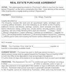 Purchase Agreement Contract Magnificent Simple Real Estate Purchase Agreement Template Construktor