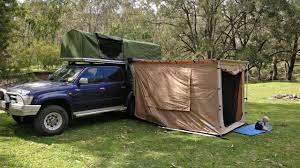 homemade diy ute truck canopy camper with buit in rooftop tent