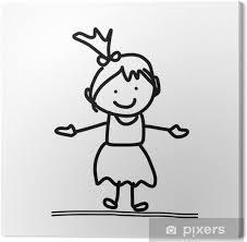 Quadro Su Tela Disegno A Mano Concetto Di Cartone Animato Per