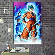 1 <b>Piece Digital Art</b> Cartoon Picture Super Saiyan Blue Goku and ...
