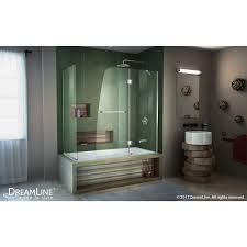 aqua hinged tub door with return panel