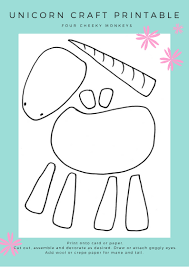 Free Craft Printables Templates Unicorn Craft Activity Flower Crown And Free Printables
