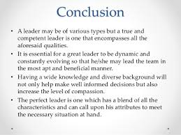 organisational behavior leadership style conclusion bull a leader
