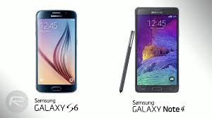 Samsung Note Comparison Chart Samsung Galaxy S6 Vs Galaxy Note 4 Specs Features