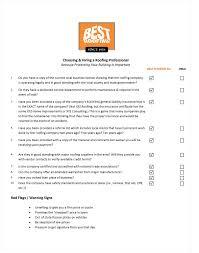 Contractor Checklist Roofing Contractor Checklist Best Roofing