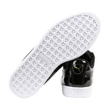 puma basket heart patent womens black patent leather lace up sneakers shoes 3 3 of 3 see more