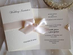 Cheap Wrap Ribbon Wedding Invitations