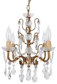 madeleine 4 light chic glass crystal chandelier gold