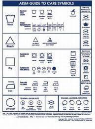 Fabric Care Symbols Hamilton Cleaners