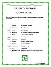 the best the gift of magi ideas christmas  the gift of the magi vocabulary test matching
