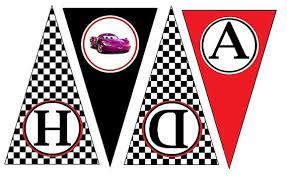 Printable Cars Birthday Banner Printable 360 Degree Musicetcus