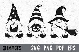 The most common free gnome svg material is linen. Three Halloween Gnomes Svg Cut Files Graphic By Greenwolf Art Creative Fabrica