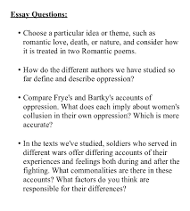 essay questions theme essay questions