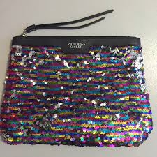 zebra makeup bag victoria s secret rainbow sequin makeup bag