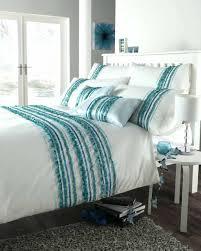 aqua and white bedding black ruffle grey