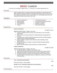 Educational Resume Examples