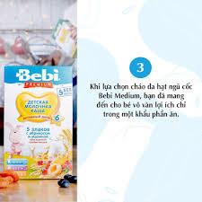 Bột Ăn Dặm Bebi Cao Cấp Sữa, Yến Mạch, Quả Đào Cho Bé Ăn Dặm Từ 5 Tháng -  Bột ăn dặm
