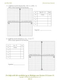 worksheet b5 graphing linear equations answer key kidz activities
