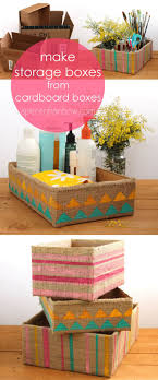 up cycled cardboard box into beautiful farmhouse boho stylestorage box easily in 5 minutes