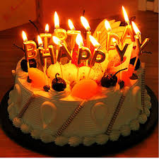 Buy Lshcx Gold Birthday Letter Candles Happy Birthday Cake Candles