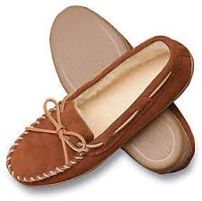 Minnetonka Mens Suede Pile Lined Hardsole Slippers Qvc